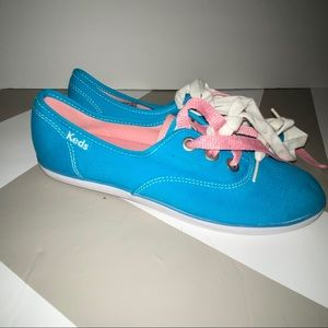 NEW Keds champion sneakers teal pink white 6